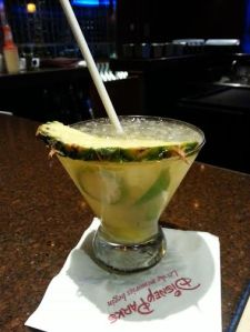 Pineapple caipirinha at Wave in the Contemporary Resort.