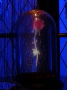 The enchanted rose at Be Our Guest. A petal dropped every time there was lightning.