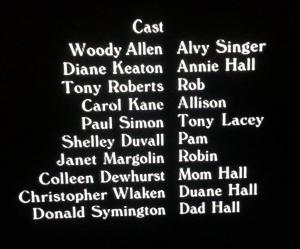 Annie Hall Credits