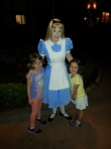 Meeting Alice in Wonderland at Epcot