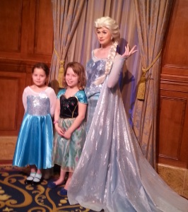 Anna and Elsa are in the same room and you visit with each individually