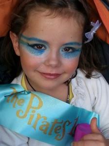 mermaid makeover close up