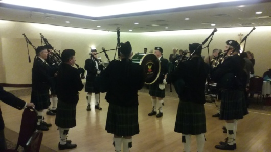 The Greenwich Pipe Band killed it!