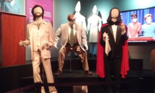 Costumes on display at the SNL exhibition