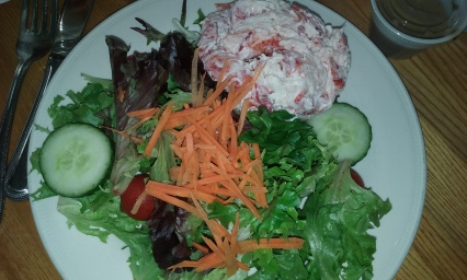 Lobster salad at Popponesset Inn -- not recommended