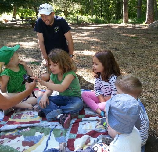Hello bullfrog! Children's program at Denison Pequotsepos Nature Center