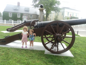 Canon in a classic New England square in Stonington, CT