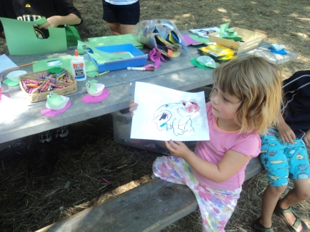 Craft time at Denison Pequotsepos Nature Center
