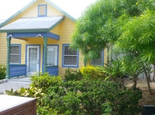 Brightly painted house at the Cayman Turtle Farm