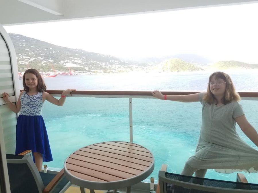 girls on the balcony