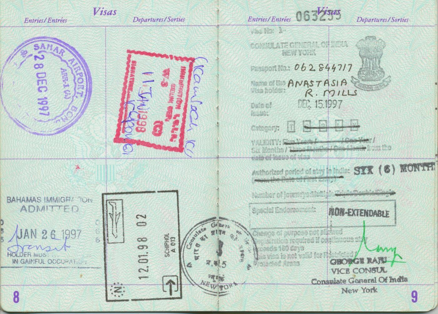 A peek inside one of Stasha's old pasports