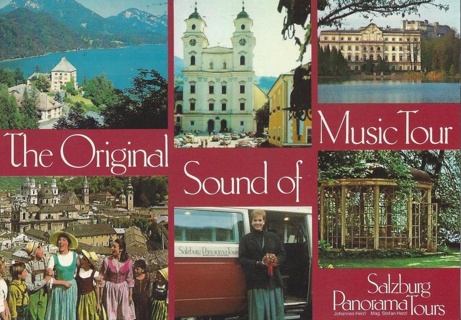 Sound of Music tour postcard
