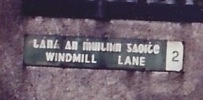 Windmill Lane street sign