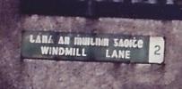 Windmill Lane street sign