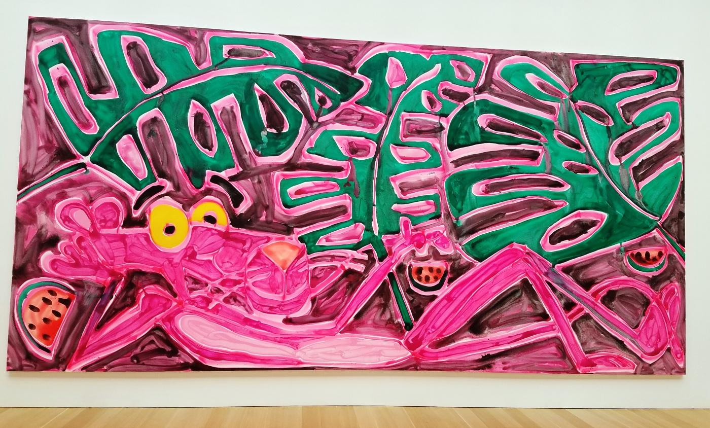 Enormous Katherine Bernhardt Pink Panther