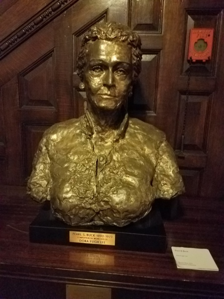 Pearl S. Buck was a Pen Woman. Her bust is in the entry way.