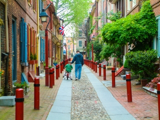 Historic Philadelphia is easily walkable