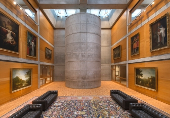 Library Court, Yale Center for British Art, photograph by Richard Caspole