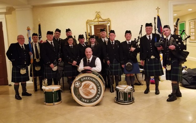 pipe band posed