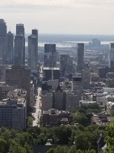 Montreal from the belvedere at Mont Royal Park. Photo by Anastasia Mills Healy