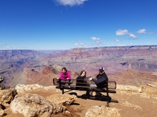 Healy family at the South Rim. Photo by Anastasia Mills Healy