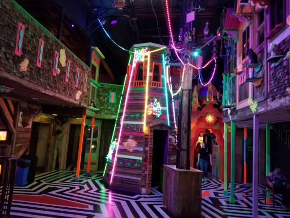 A central area at Meow Wolf's House of Eternal Return, a sci-fi funhouse in Santa Fe. Photo by Anastasia Mills Healy