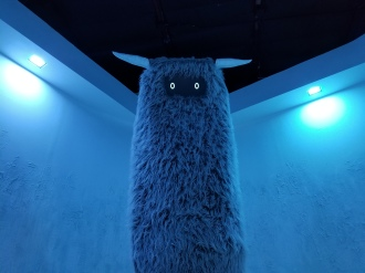 Creature at House of Eternal Return. Photo by Anastasia Mills Healy