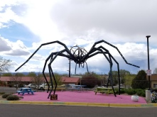 Giant spider sculpture at Meow Wolf Santa Fe. Photo by Anastasia Mills Healy