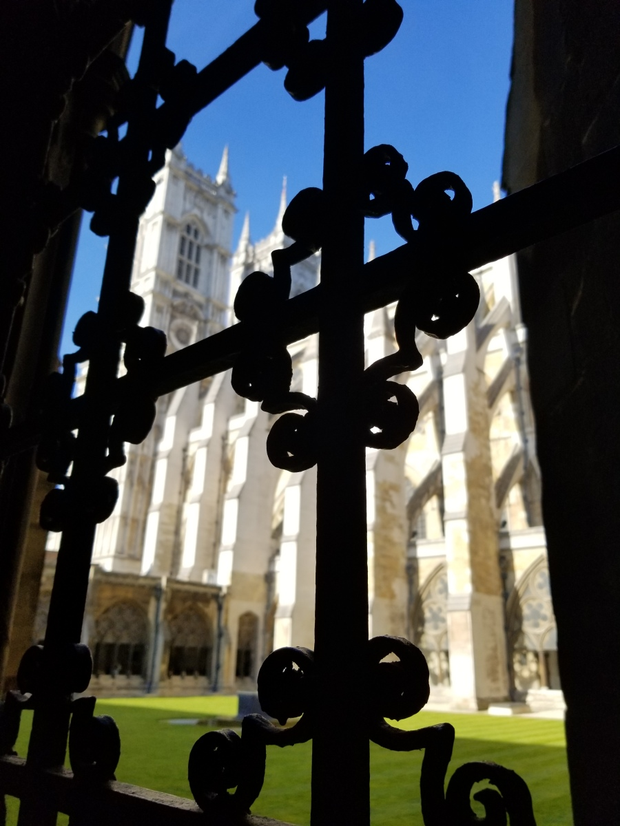 A cloister at Westminster Abbey. Photo by Anastasia Mills Healy.
