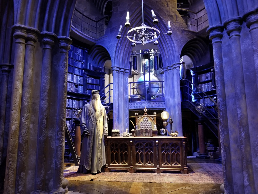 Dumbledore's office at Warner Bros. Studio Tour London–The Making of Harry Potter. Photo by Anastasia Mills Healy.