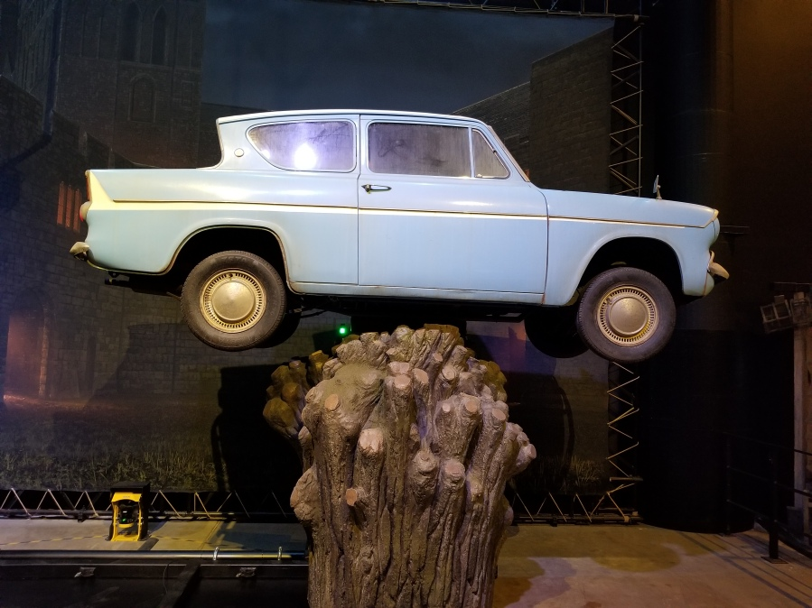 The flying car at Warner Bros. Studio Tour London–The Making of Harry Potter. Photo by Anastasia Mills Healy.