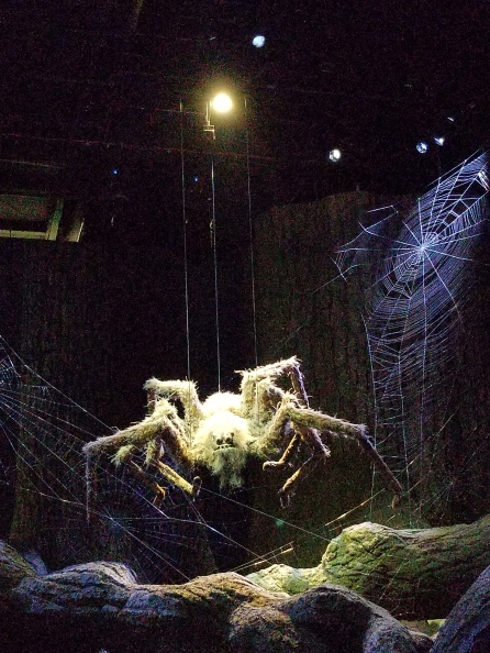 Aragog in the Forbidden Forest at Warner Bros. Studio Tour London–The Making of Harry Potter. Photo by Anastasia Mills Healy.