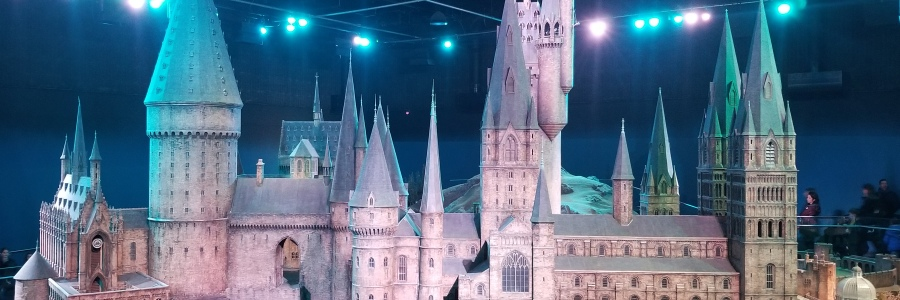 Hogwarts Castle model at Warner Bros. Studio Tour London–The Making of Harry Potter. Photo by Anastasia Mills Healy.