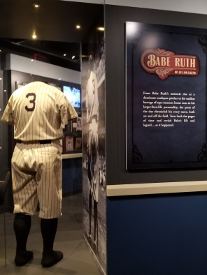 Babe Ruth exhibit. Photo by Anastasia Mills Healy