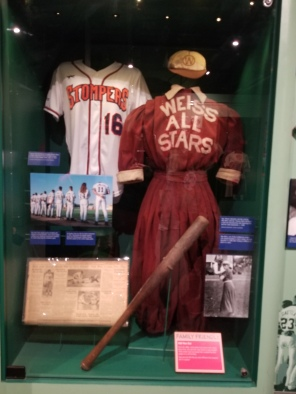 Exhibit on women in baseball. Photo by Anastasia Mills Healy