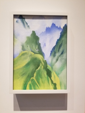 At the Georgia O'Keeffe Museum in Santa Fe I learned that the artist was a world traveler. This is Machi Picchu--isn't it gorgeous?