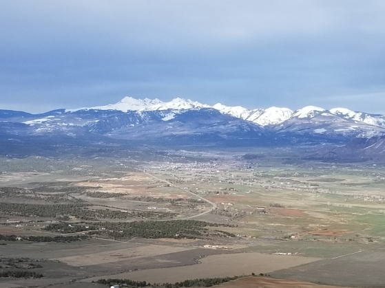 View from the road to Mesa Verde