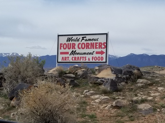 Four Corners sign. Photo by Anastasia Mills Healy