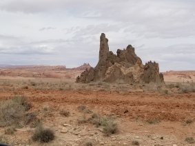 Striking rock forms en route to Dinosaur Tracks. Photo by Anastasia Mills Healy