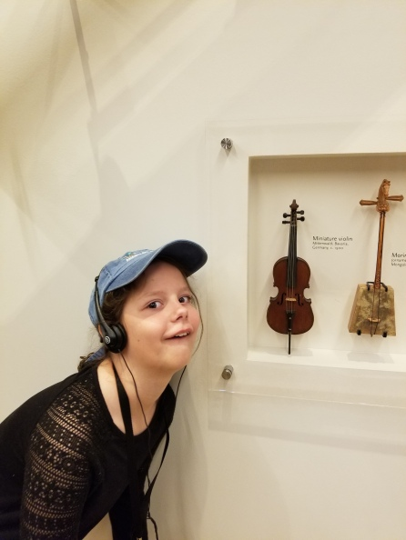 Tiny violin at the Musical Instruments Museum. Photo by Anastasia Mills Healy