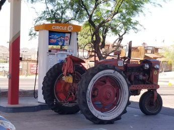 Tractors need gas too. Photo by Anastasia Mills Healy