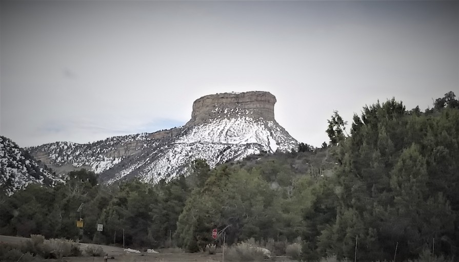 Mesa Verde as seen from the visitor center. Photo by Anastasia Mills Healy