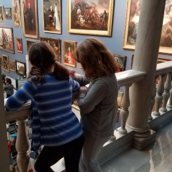 Kids at the Wadsworth Atheneum in Hartford, CT.